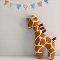 Minky Giraffe Tag Toy Rattle
