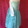 Girls size 4 5 Elsa inspired princess dress costume cape frozen queen Christmas