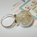 Real Dandelion Seed  Globe Ring / Make A Wish Glass ring