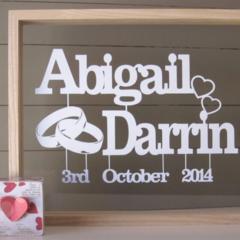 Personalised Wedding, Anniversary Papercut Art