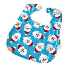 Super Bib BAMBOO Baby Toddler Mustache Santa Baby Toddler
