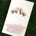 Buy 3 get 4th FREE Tas Oak Howling Wolf Earrings