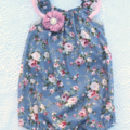 'Vintage Rose' Seaside Baby Romper / Playsuit  