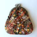 Coin Purse - Japanese print in red, orange and black