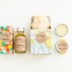 Under the Waves Gift Set - Hair Serum, Owl Soap and Lip Balm