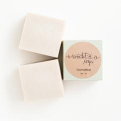 Shaving Soap - Bentonite Clay & Rice Bran Oil - Natural, Handmade, Vegan