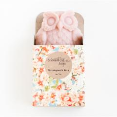 Cherry Blossom Owl Soap - Natural, Handmade, Cold Processed, Vegan