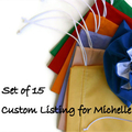 Mixed Fabric Gift Bags - Set of 15 - Fully Lined - Reserved for Michelle
