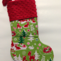 Personalised Christmas Stocking - Reindeers