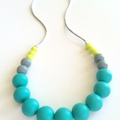 Washable Gumball Silicone Bead Necklace