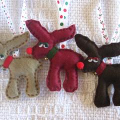 Reindeer trio Christmas decoration