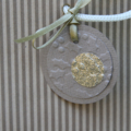6 Christmas Tags Gold Button Gift Tags Christmas Gift Tags Gold Tags Teacher Tag