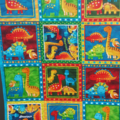 Baby quilt, bassinet, stroller, pram, tummy time, daycare - bright dino's