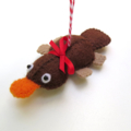 Platypus - Felt Decoration Ornament - Australian Animal