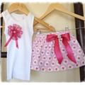 Scattered Rose Skirt and Singlet Set - Size 000-5