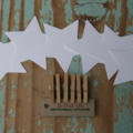 6 White Star Gift Tags  ~ White Star Decorations ~ White Star Place Settings