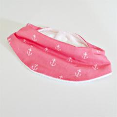 NEW! Pink Anchors Bamboo Dribble Bib