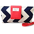 Navy Blue Chevron Nappy Wallet