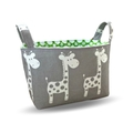 Grey Giraffe Fabric Storage Tub