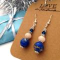 blue jasper dangle earrings