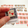 'Playing card symbol' pendants made from vintage game tiles