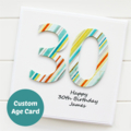 Any Age Birthday card | Personalised Custom Made | 18 21 30 40 50 60 70 80 90