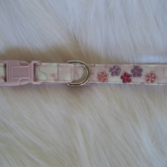 Mauve Dog Collar with flower sparkles
