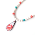 Reserved for Af... Foxy pendant necklace and miss heart by Sasha+Max Studio
