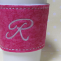 Thermal Monogramed Cup sleeve