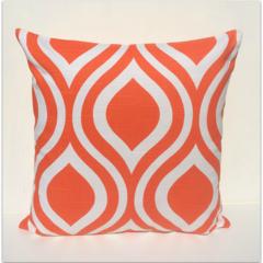 Retro Emily Teardrop Tangelo Cushion Cover  - Retro Cushions