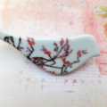 Cherry Blossom Ceramic Brooch