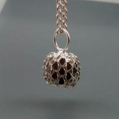 Sterling Silver Seedpod Pendant