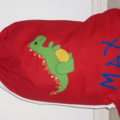 CHILDS PERSONALISED LIBRARY BAG - DINOSAUR