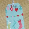 10 Christmas gift tags - Christmas garland  - handmade