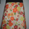 Flowery Skirt in Orange & Green with Bamboo Stretch Waist