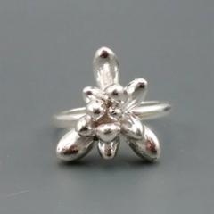 Argentium Silver Succulent Ring