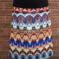 Marble Pattern Skirt with Bamboo Stretch Waist