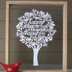 Unframed Family Tree - Papercut Keepsake