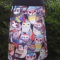 Skirt with Owls & Bamboo Stretch Waist