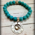 Teacher Coach Gift Personalised Apple Charm Bead Bracelet
