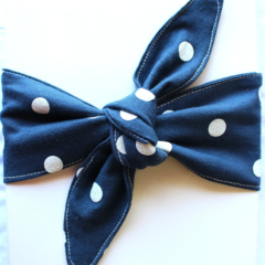 Polka dot top knot headband - baby/toddler