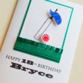XLARGE Happy Birthday custom ANY AGE design cricket bat cap ball 18th card