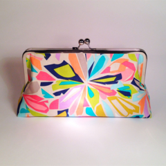 Colourfull in light large clutch purse