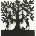 Family Tree #15 woodcut