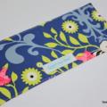 A5 NOTEBOOK JOURNAL -  zebra art gallery fabric blue green