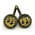Vintage Music Earrings