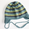 Knitted Ear Flap Hat | Boy/Girl | Made to Order |  24M to 36M | Custom Colour