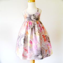 Pastel Floral Hummingbird Dress - size 4