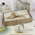 Australian COASTAL SPECIES GIFT BOX of 8 greeting cards - beach ocean wildlife,