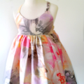 Pastel Floral Hummingbird Dress - size 0